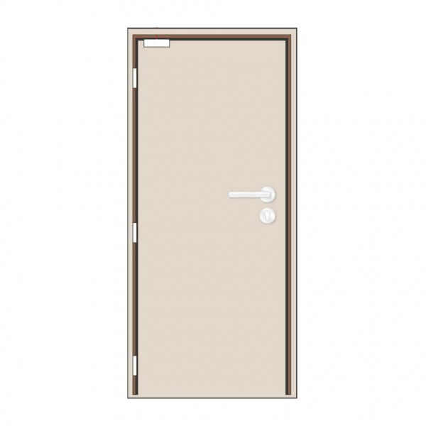 Nevador 1 Hour Single Leaf Fire Rated Door 900MM (W) x 2100MM (H) with  Timber Frame + Ironmongeries Set